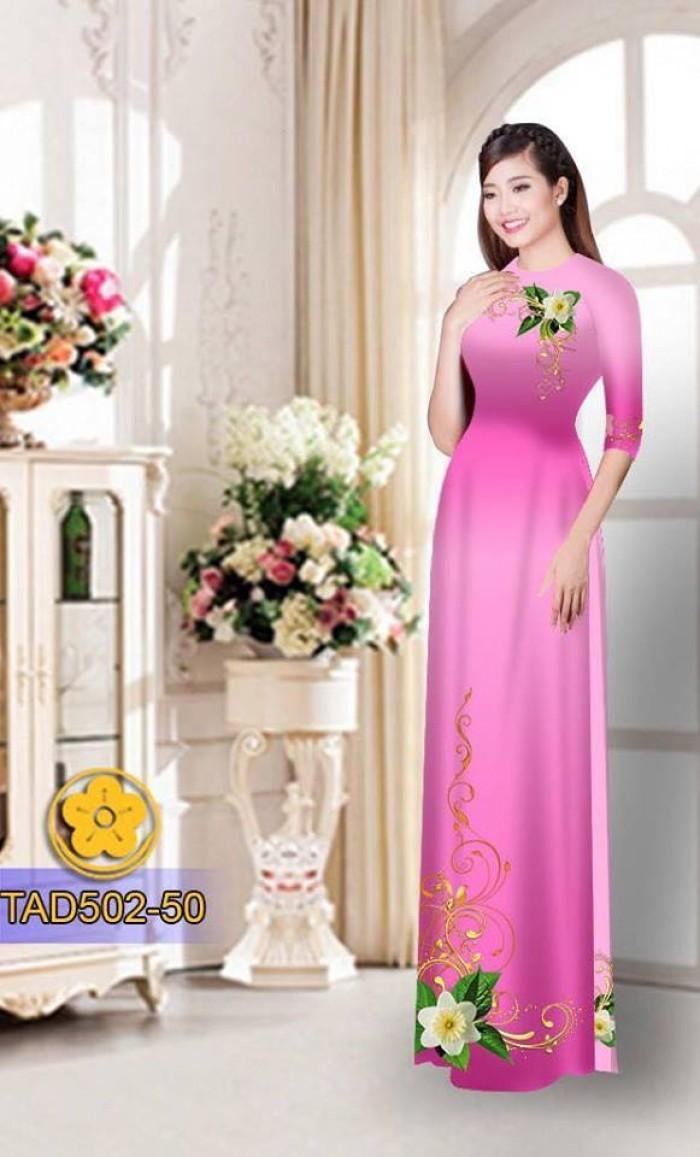 Vải áo dài hoa đẹp22