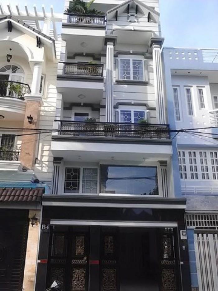 Bán nhà quận 3 Lê Văn Sỹ 5x25m Hầm 4 lầu