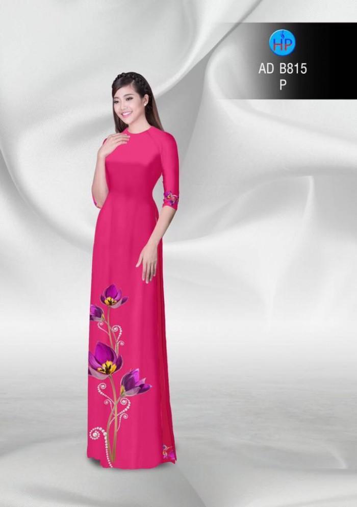 Vải áo dài hoa đẹp1