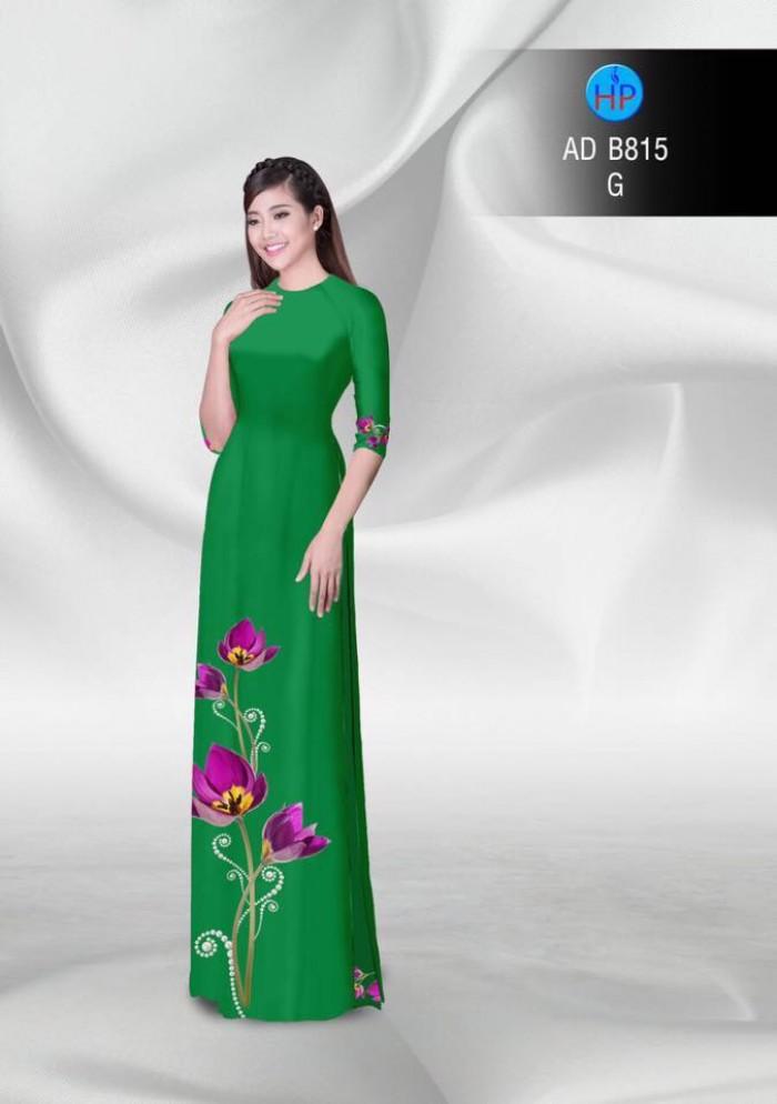 Vải áo dài hoa đẹp7