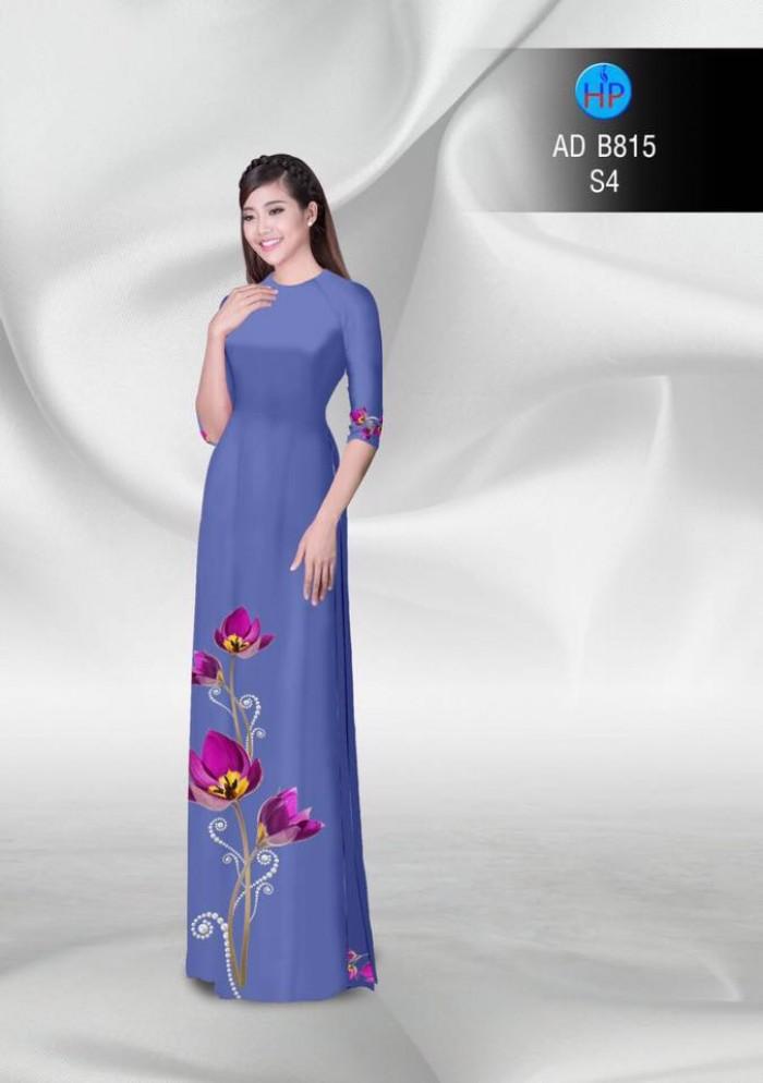 Vải áo dài hoa đẹp12