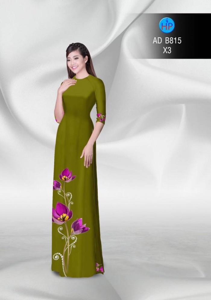 Vải áo dài hoa đẹp20