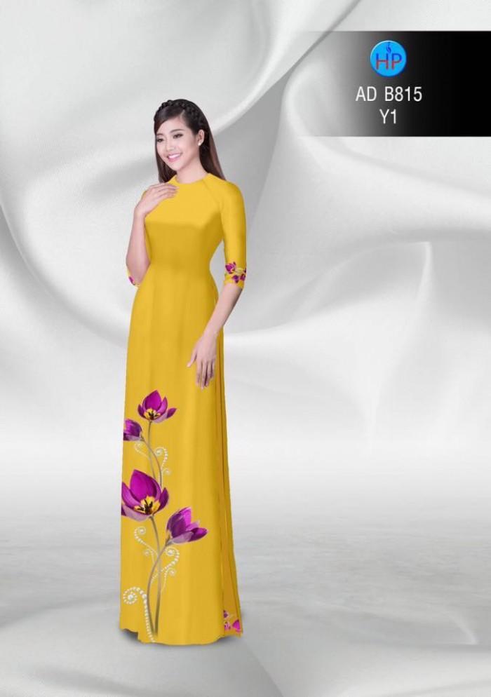 Vải áo dài hoa đẹp24