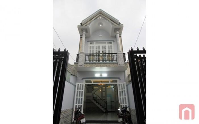 Nhà Hóc Môn giá rẻ mặt tiền đường DT: 4x14, SHR