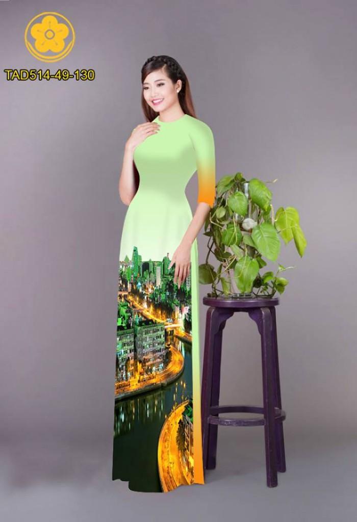 Vải áo dài phong cảnh thành phố26