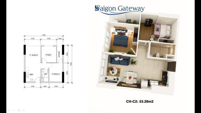 Nhận đặt chỗ dự án SG Gateway mặt tiền Xa Lộ Hà Nội, giá từ 1,15 tỷ/căn 2PN, viettin bank hỗ trợ 70%