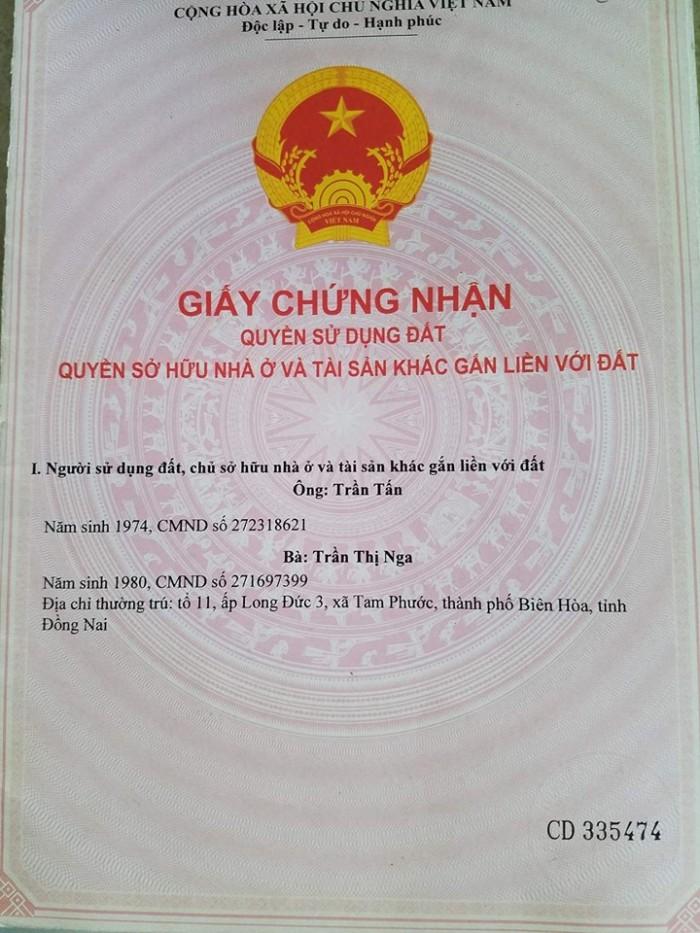 Bán đất thổ cư giá rẻ Đồng Nai