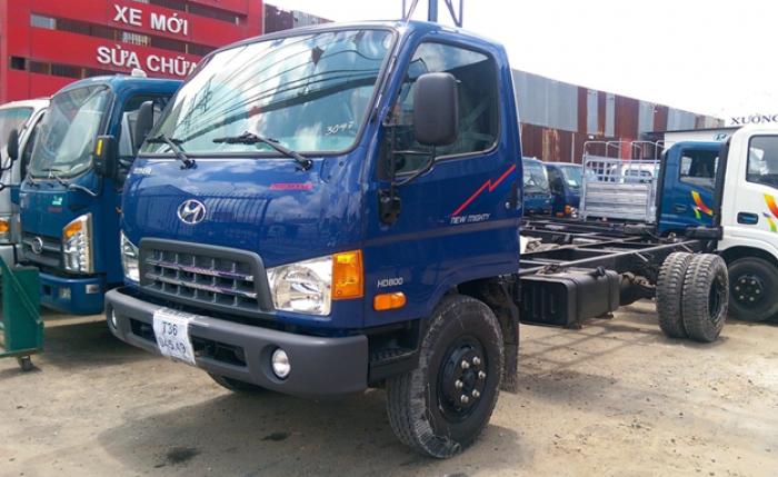 Xe tải Hyundai New Mighty HD800 tải 8 tấn thùng dài 5,1m
