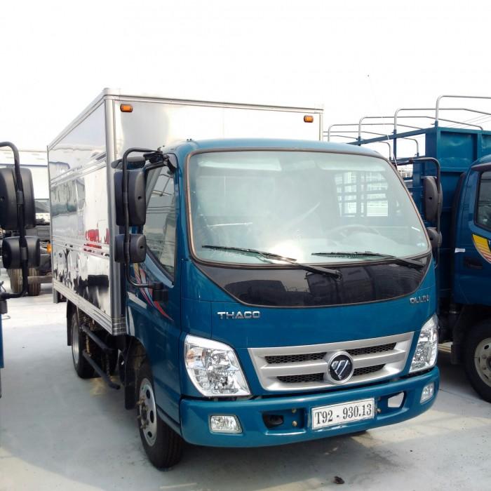 Xe tải Thaco Ollin 345 tải trọng 2t4 vô thành phố ban ngày, giá tốt