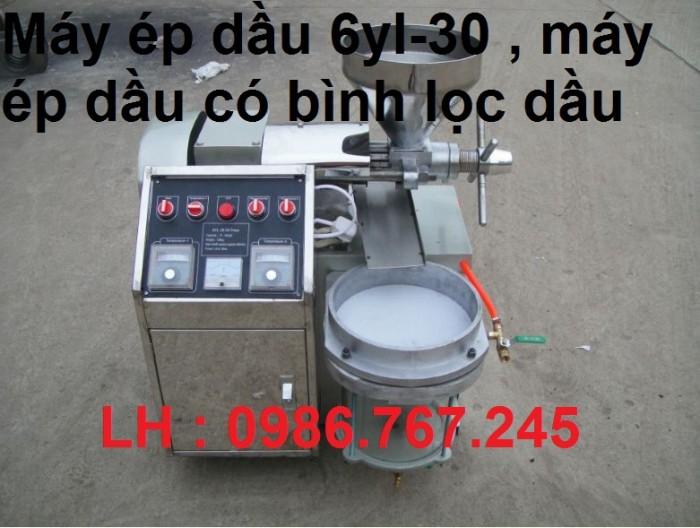 MÁY ÉP DẦU 6YL-30 Gía bán : 37.000.000vnđ Sử dụng: Dầu mè, dầu lạc Khả năng sản xuất: 15kg / hr Nguồn gốc: Trung Quốc Số mô hình: 6YL-30 Vôn: 220V, 220V Công suất (W): 1.5KW Kích thước (L * W * H): 800 * 800 * 1200mm Cân nặng: 126KGS Nhấn tốc độ trục: 60-70 vòng / phút2