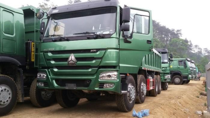 Xe tải ben HOWO 8x4 - Thùng vuông - Nhíp Bó giá rẻ tại hà nội 0