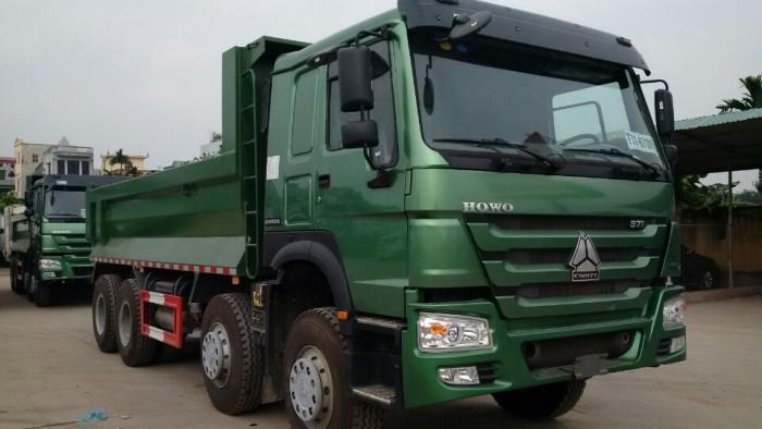 Xe tải ben HOWO 8x4 - Thùng đúc - Nhíp Bó  giá rẻ tại hà nội 0