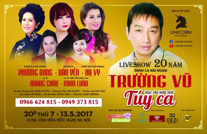 Bán vé liveshow Trường Vũ Túy Ca tại Hà Nội