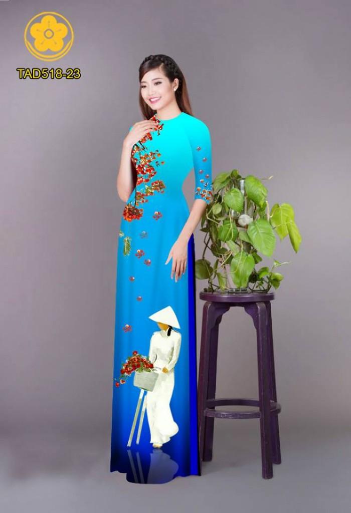 Vải áo dài nữ sinh và hoa phượng7