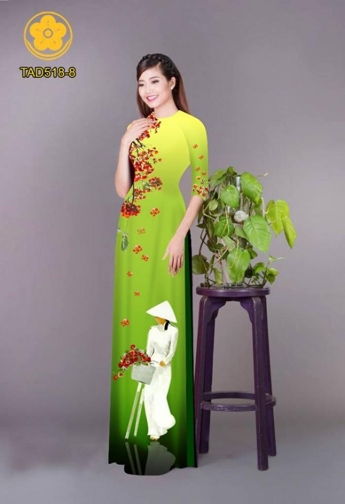 Vải áo dài nữ sinh và hoa phượng8