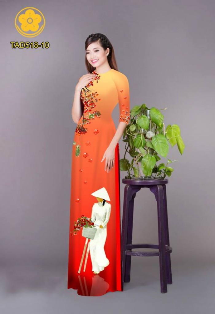 Vải áo dài nữ sinh và hoa phượng9