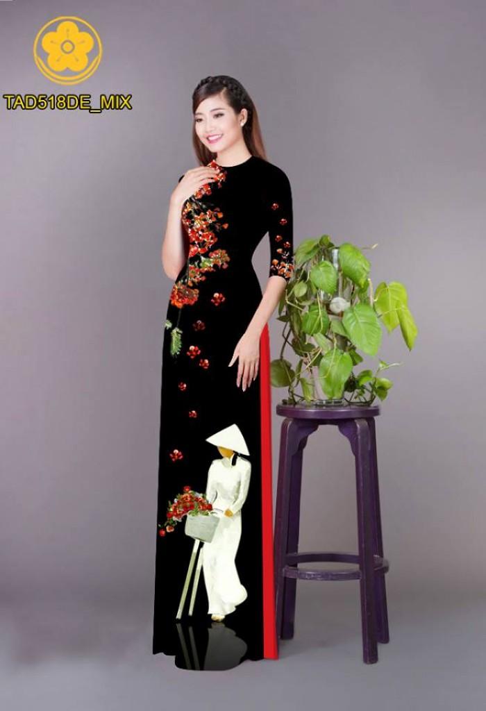 Vải áo dài nữ sinh và hoa phượng10