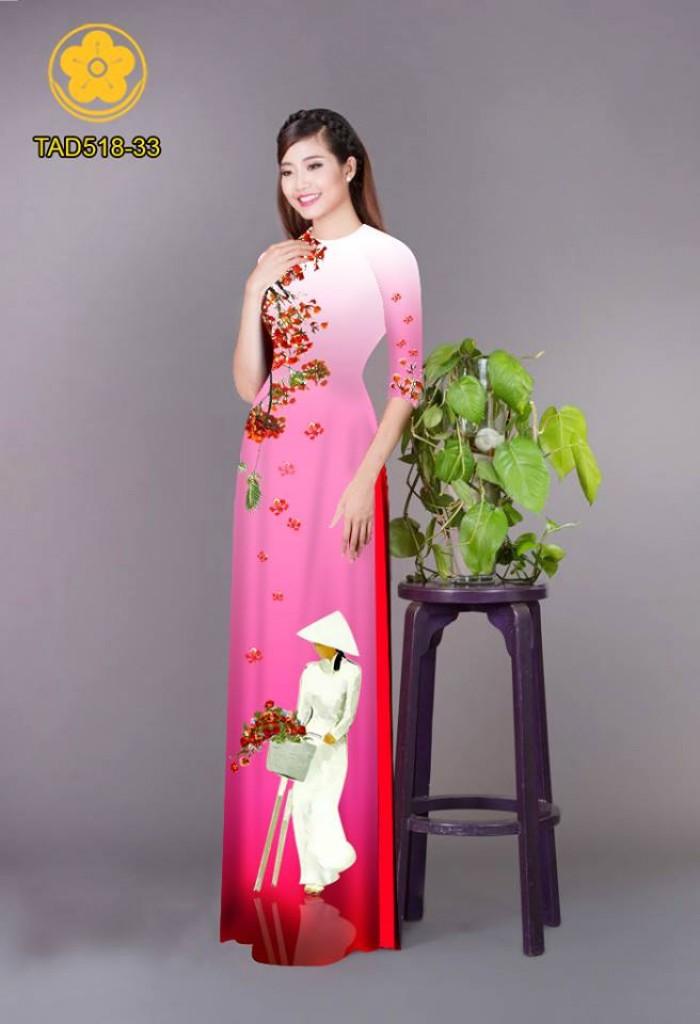 Vải áo dài nữ sinh và hoa phượng12