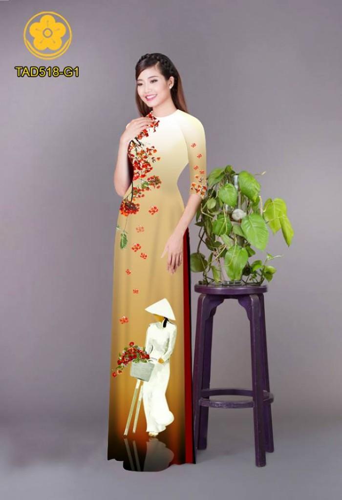 Vải áo dài nữ sinh và hoa phượng14