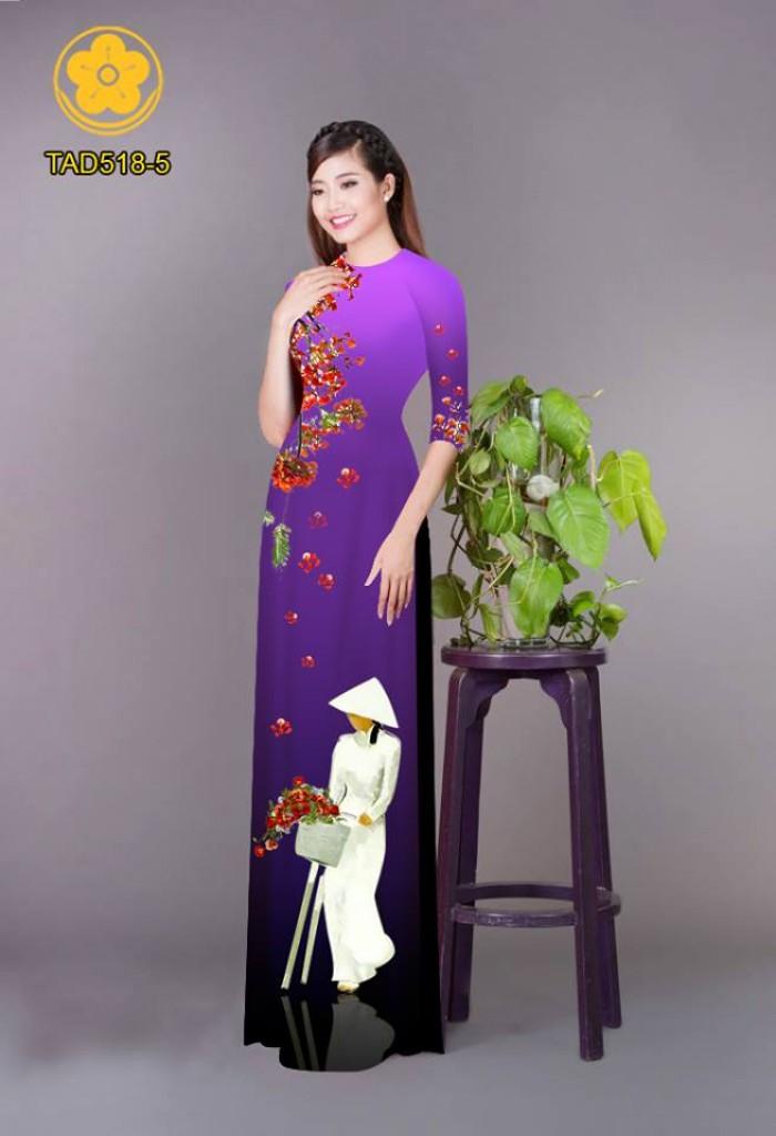 Vải áo dài nữ sinh và hoa phượng16