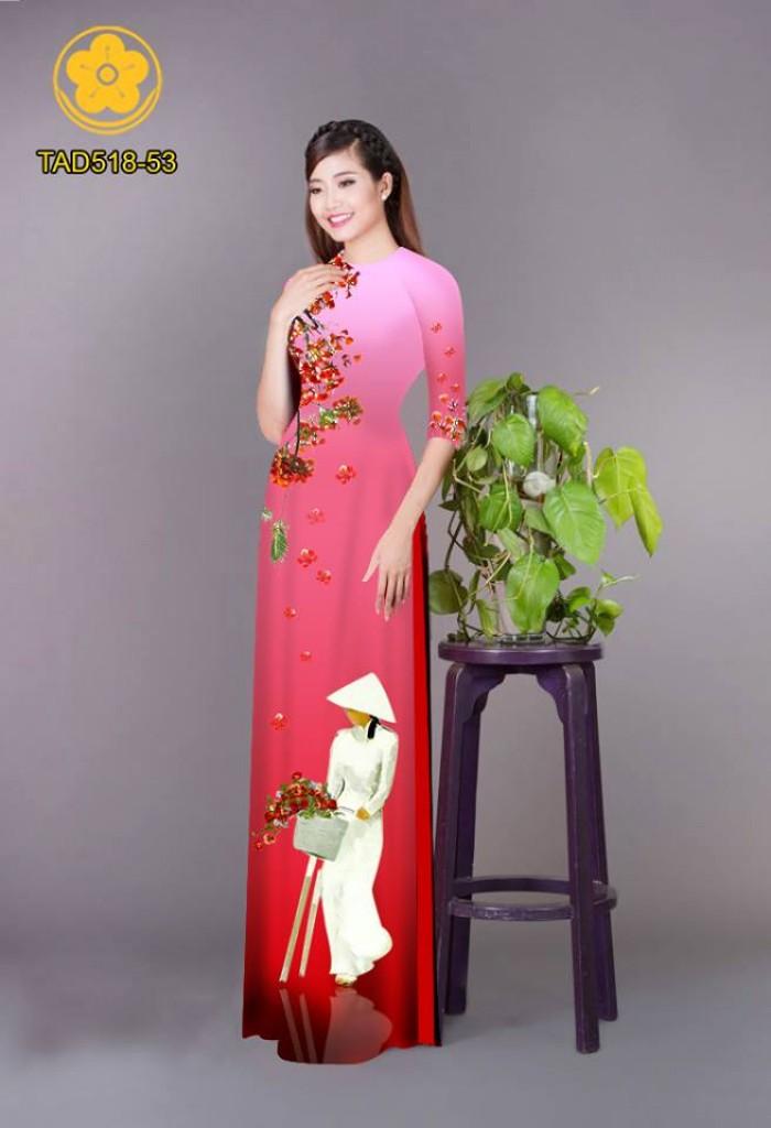 Vải áo dài nữ sinh và hoa phượng18