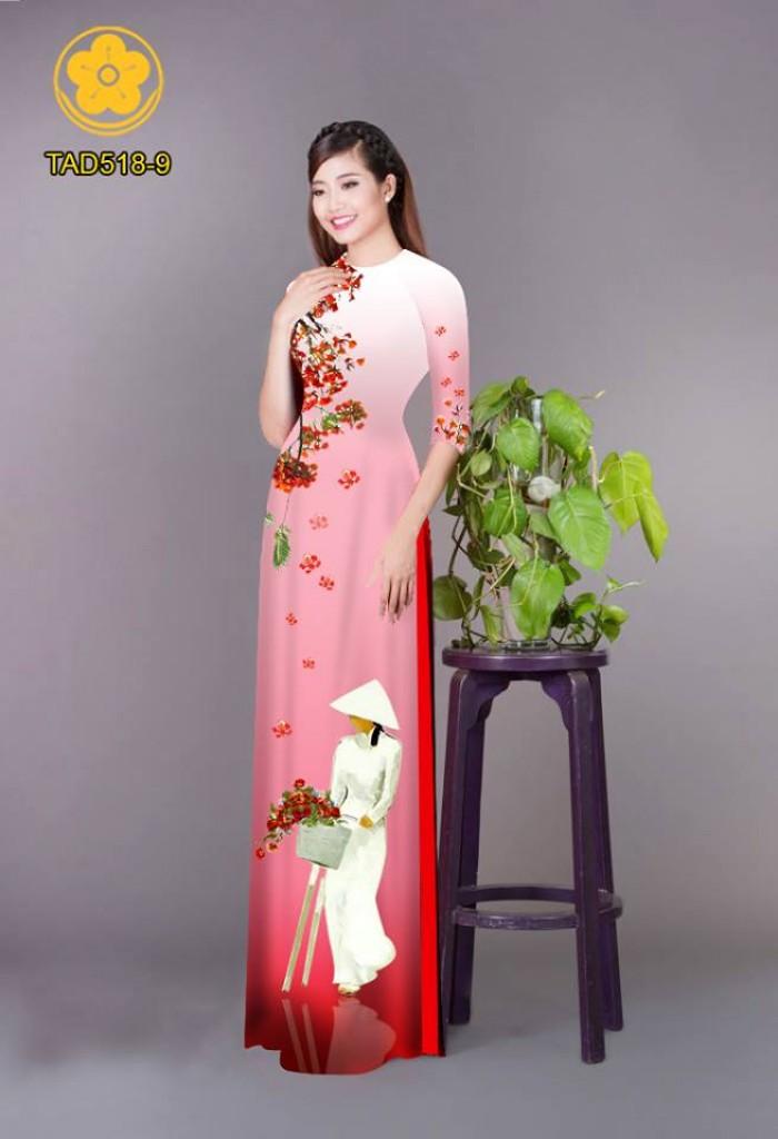 Vải áo dài nữ sinh và hoa phượng19