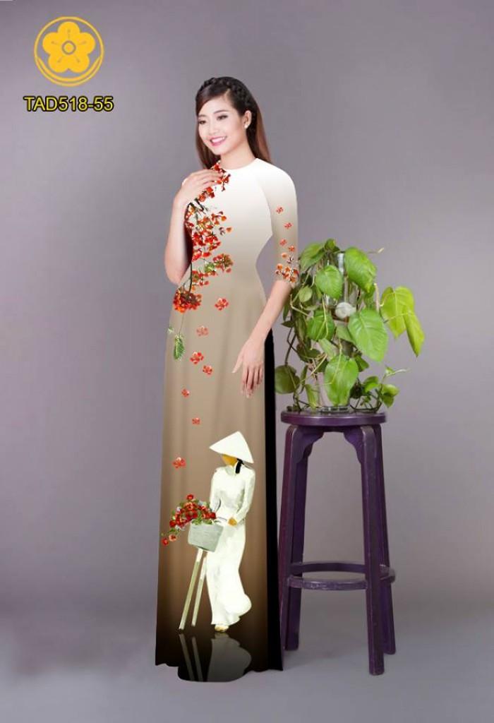 Vải áo dài nữ sinh và hoa phượng20