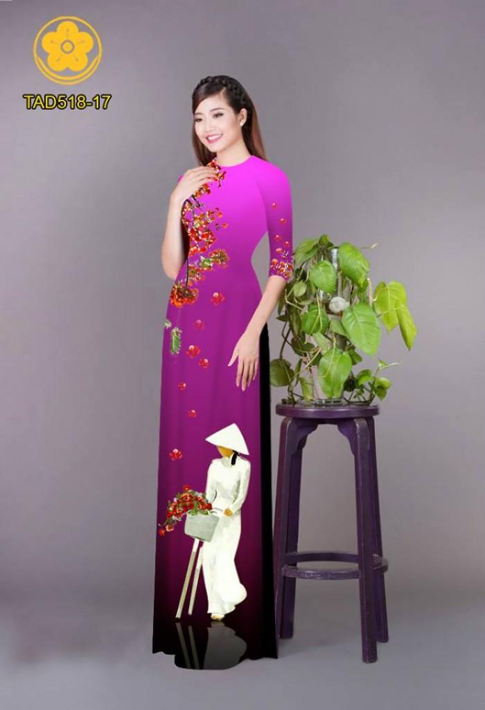 Vải áo dài nữ sinh và hoa phượng21