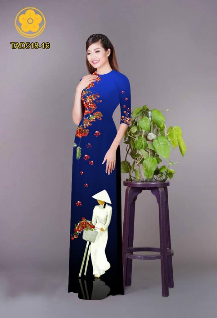 Vải áo dài nữ sinh và hoa phượng22