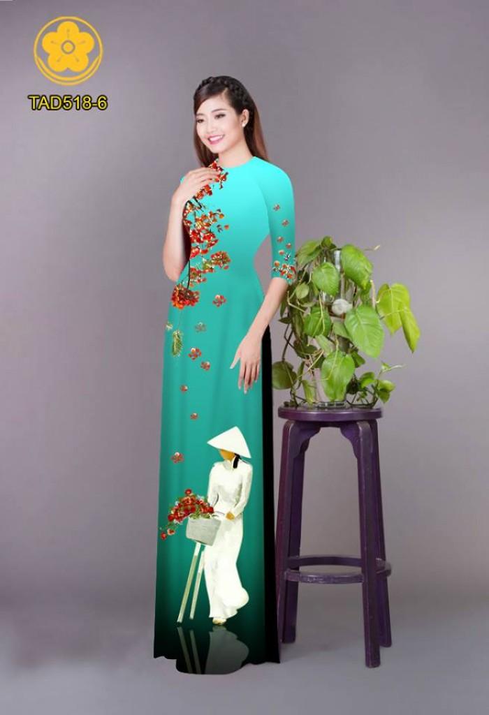 Vải áo dài nữ sinh và hoa phượng23