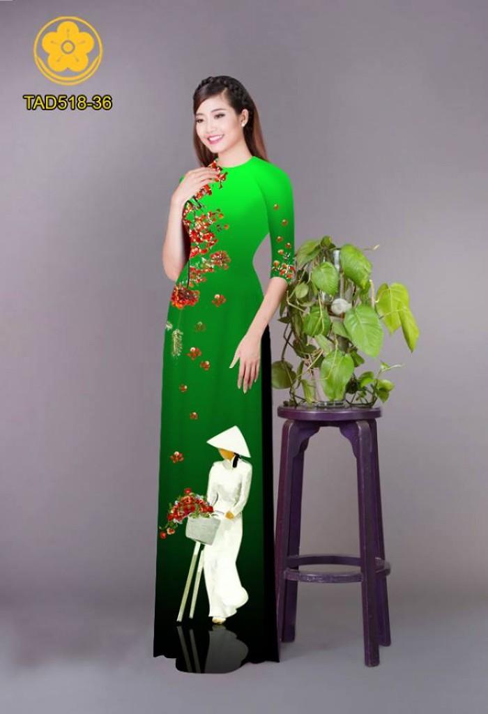 Vải áo dài nữ sinh và hoa phượng24