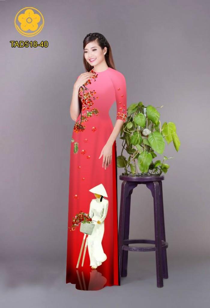 Vải áo dài nữ sinh và hoa phượng25