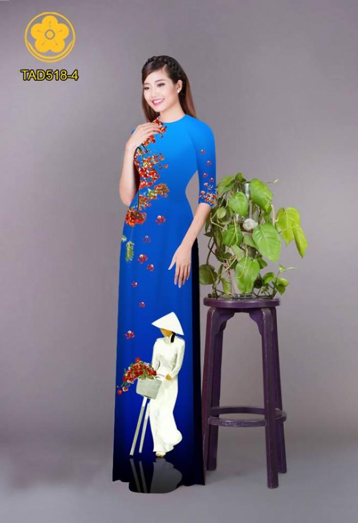 Vải áo dài nữ sinh và hoa phượng26