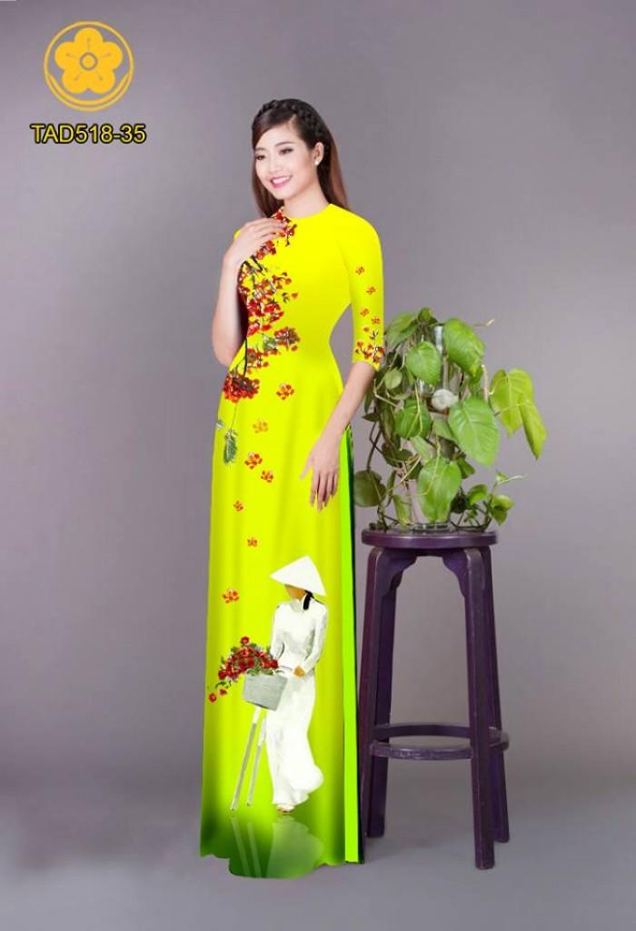 Vải áo dài nữ sinh và hoa phượng28