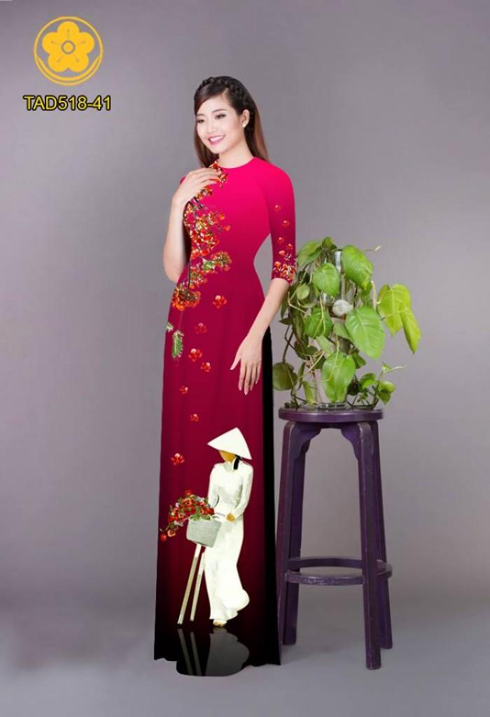 Vải áo dài nữ sinh và hoa phượng29