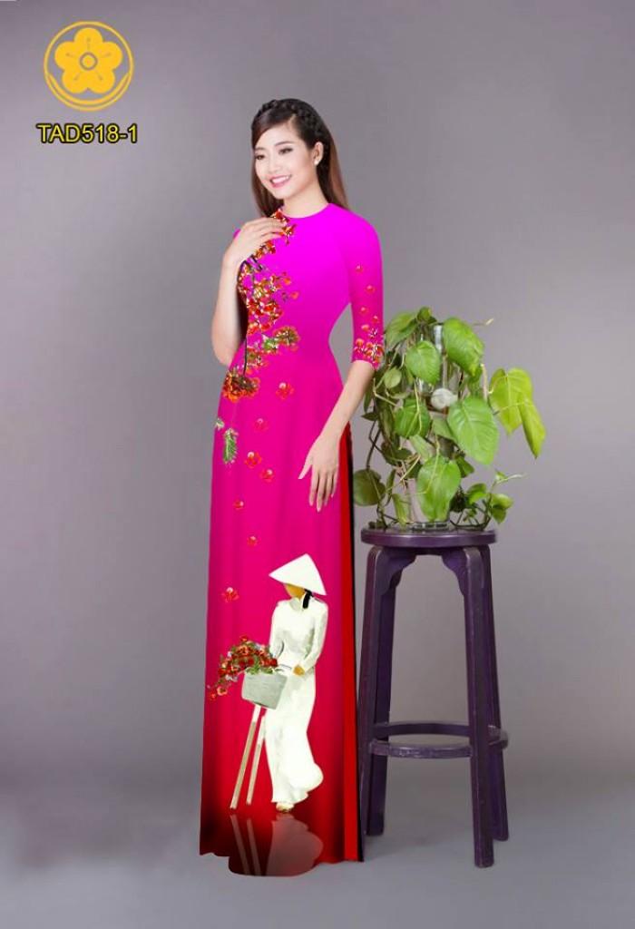 Vải áo dài nữ sinh và hoa phượng30