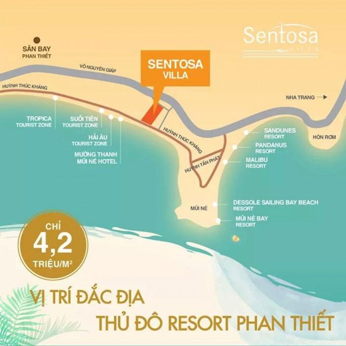 Đất nền biệt thự nghỉ dưỡng biển Mũi Né Phan Thiết SENTOSA VILLA Huỳnh Thúc Kháng chỉ 4,2tr/m2
