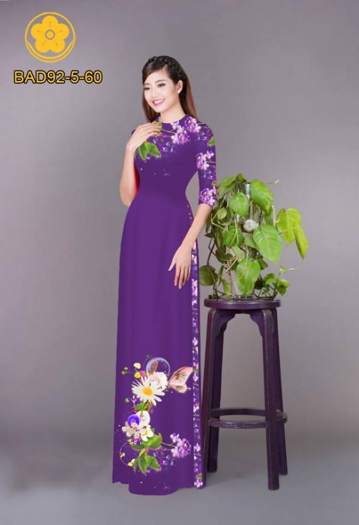 Vải áo dài hoa cúc4