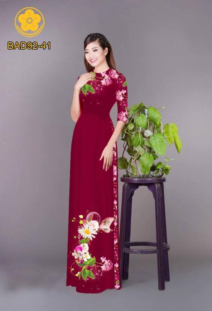 Vải áo dài hoa cúc5