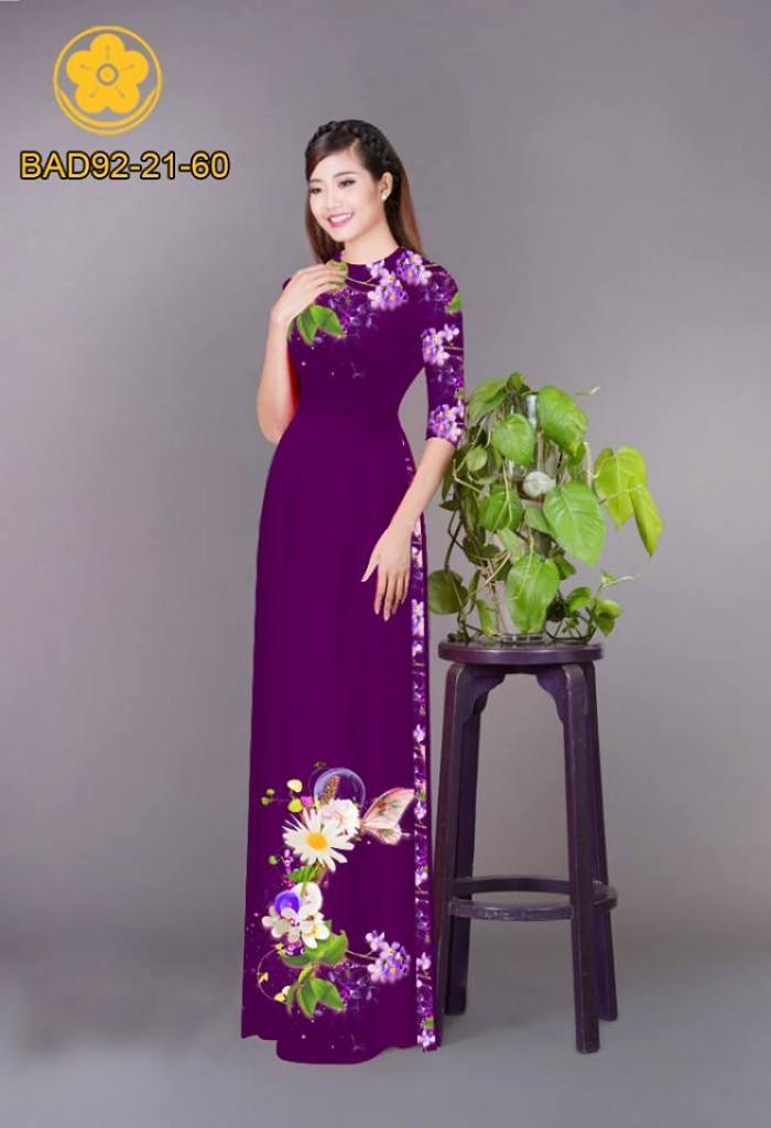 Vải áo dài hoa cúc6