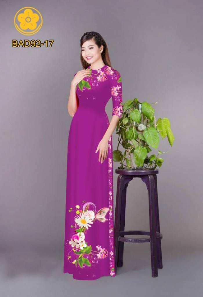 Vải áo dài hoa cúc7