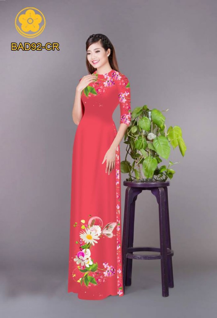 Vải áo dài hoa cúc8
