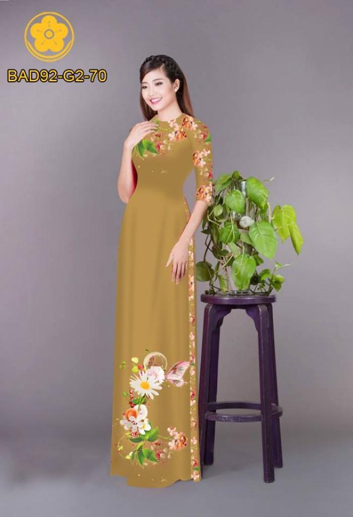 Vải áo dài hoa cúc9