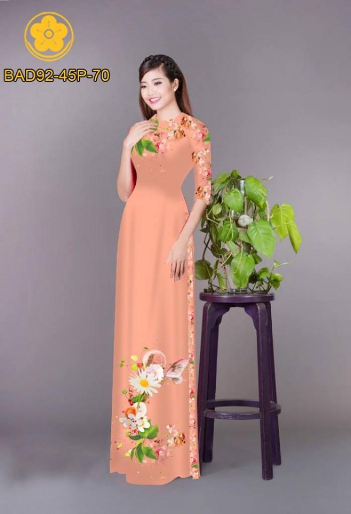 Vải áo dài hoa cúc11