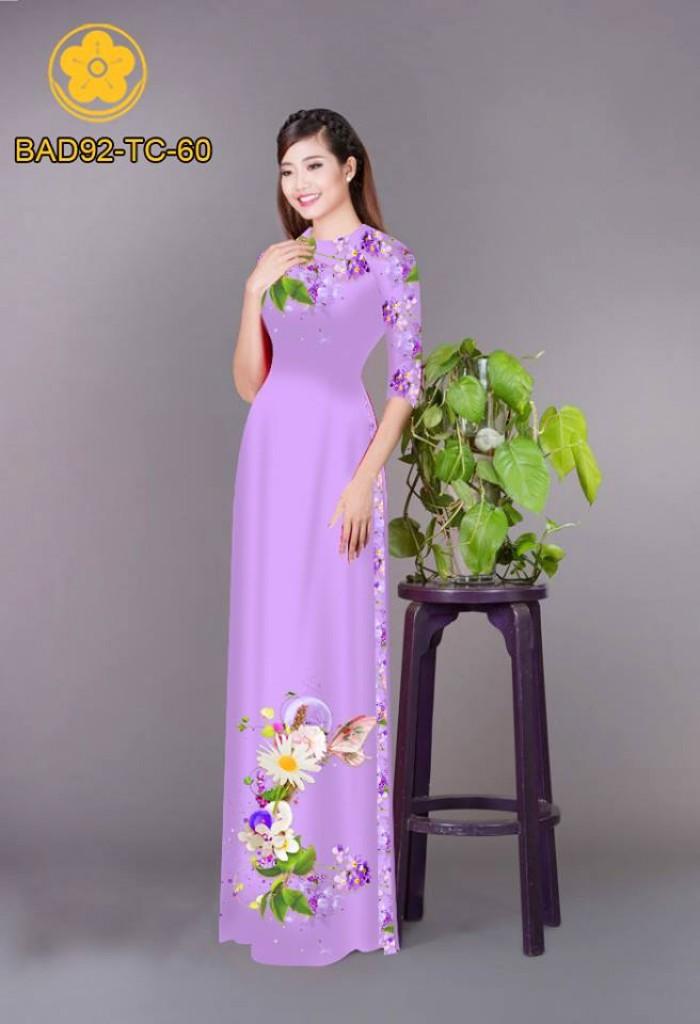 Vải áo dài hoa cúc12