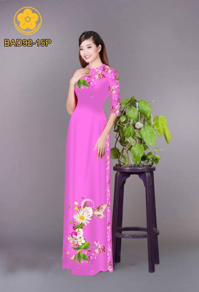 Vải áo dài hoa cúc16