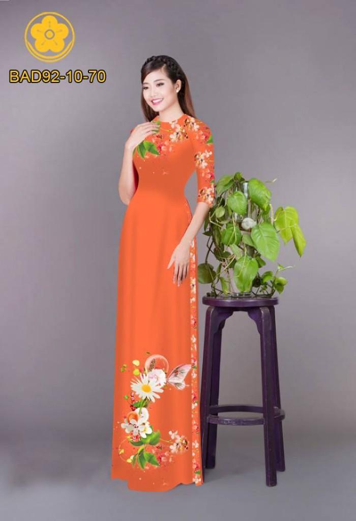 Vải áo dài hoa cúc17