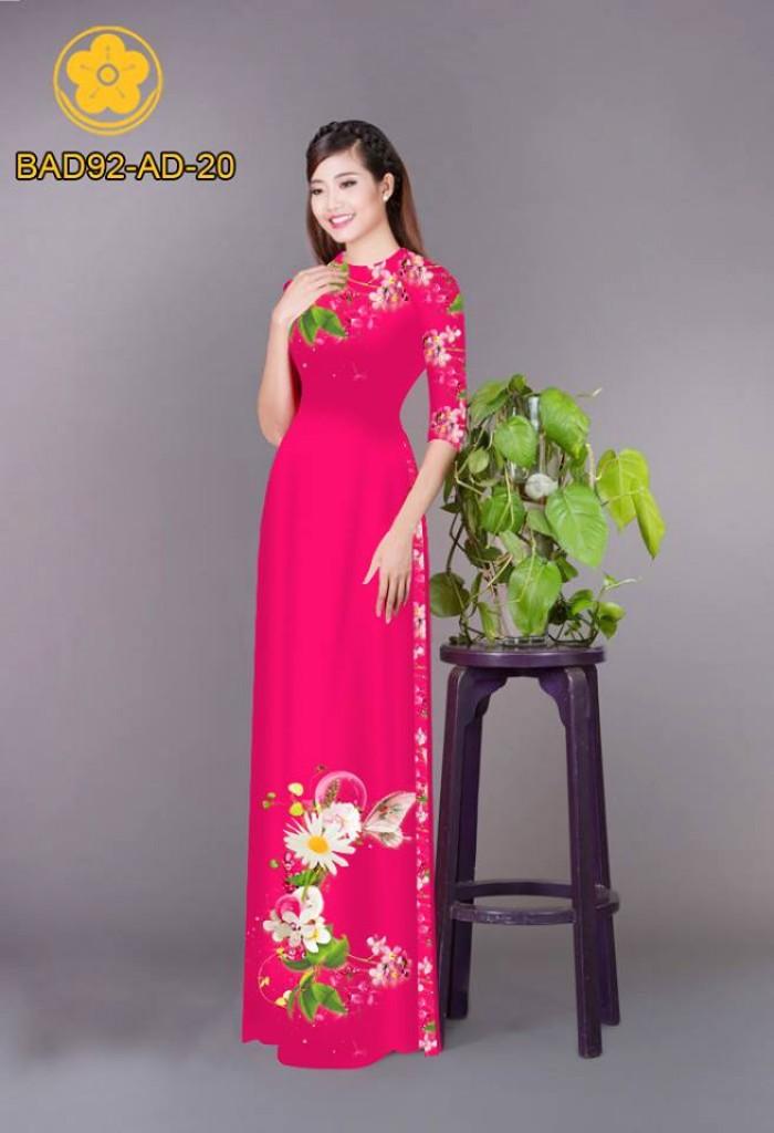 Vải áo dài hoa cúc20