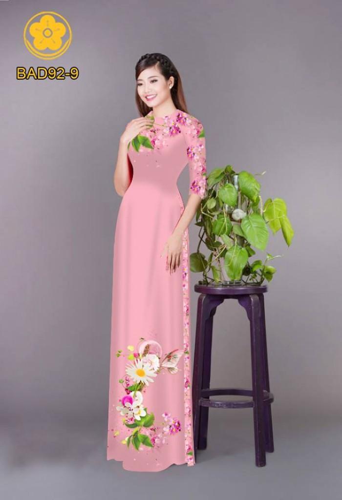 Vải áo dài hoa cúc21