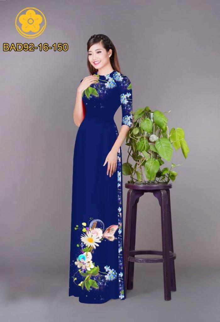 Vải áo dài hoa cúc22